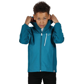 Regatta Highton Chaqueta Impermeable Niños, gulfstream/olympic teal